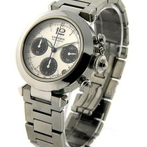 Cartier W31048M7 Pasha C Chronograph - Steel on Bracelet with...