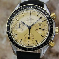 Omega Speedmaster Swiss Made 18k Gold & Stainless 1990s...