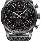 Breitling Transocean Chronograph Unitime Pilot Mens Watch