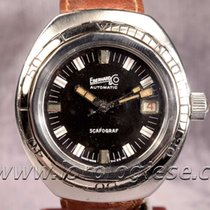 Eberhard & Co. Scarograf 400 Automatic Vintage Steel Diver...