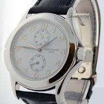 Patek Philippe 5134 Travel Time 18k White Gold Mens Watch...