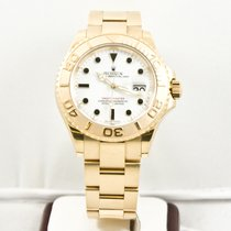 Rolex 40mm Yachtmaster Yellow Gold Watch 16628 White Dial