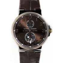 Ulysse Nardin 265-66-BROWN Maxi Marine Chronometer in Steel...