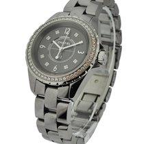 Chanel H2565 Chromatic J12 in Titanium Ceramic with Diamond...