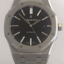 Audemars Piguet AP Royal Oak Jumbo Black Dial 15400ST.OO.1220S...