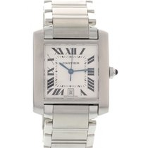 Cartier Men's Large Stainless Steel Cartier Tank Automatic...