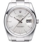 Rolex Date silver index oyster