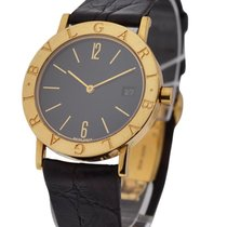 Bulgari BB33GLDATE - 33mm Quartz with Date - Yellow Gold on Strap