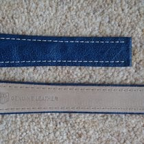 TAG Heuer 18mm Blue+White SEL-Leather Deployant Strap Band