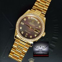 Rolex Day Date President 18k Gold MOP Diamonds Watch Box/Paper...