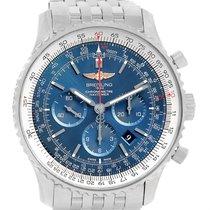 Breitling Navitimer 01 46mm Aurora Blue Dial Mens Watch Ab012721