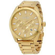 Nixon Stainless Steel Chronograph Gold Dial Gold Women's...