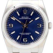 Rolex Oyster Perpetual 36 116000-BLUADO 36mm Blue Arabic Index...