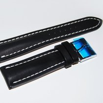 Breitling Kalbslederband mit Dornschliesse Schwarz 24-20 mm