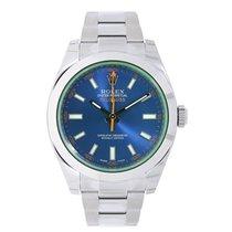 Rolex MILGAUSS Green Sapphire Crystal Z-Blue Dial