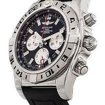 Breitling Chronomat GMT Chronograph 47mm Rubber bracelet NEW