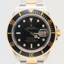 Rolex Submariner Date Black Dial Ref. 16613 (Running Gold Clasp)
