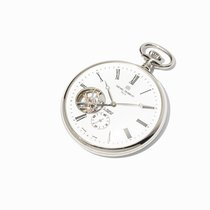 Michel Herbelin Pocket Watch With Skeleton Dial and Back