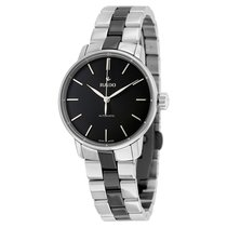Rado Ladies Coupole Classic Black Dial Two-tone Watch