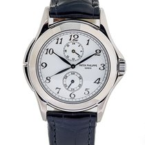 Patek Philippe Calatrava Travel Time In Oro Bianco 18kt Ref....
