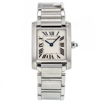 Cartier Tank Francaise Small W51008q3 Stainless Steel Quartz...