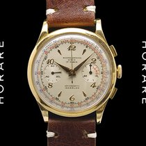 Record 18K Gold Chronograph - Cal. Venus 188 - Circa 1950s