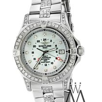 Breitling Diamond Breitling Colt A32350 Mother Of Pearl Dial...