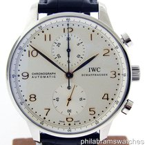 IWC Portuguese Chrono IW371445 Stainless Steel Croc Strap...