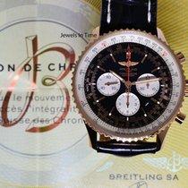 Breitling Navitimer 01 46 18k Rose Gold Chronograph Mens Watch...