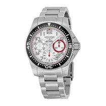 Longines HydroConquest Chronograph Stainless Steel Mens Watch...