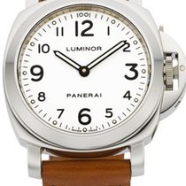 Panerai Officine Luminor Steel 44mm White Dial PAM 10