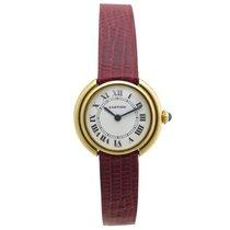 Cartier ellipse 26 mm en or jaune 18k mecanique gold watch