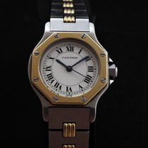 Cartier Santos Steel & 18k Gold Automatic Ladie's