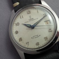 Tudor Prince-Oyster Date 34 Honeycomb dial blue steel hands 1956