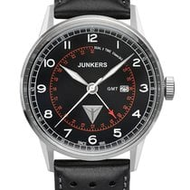 Junkers G38 6946-2 Dual Time schwarz 42 mm 10 ATM