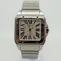 Cartier Santos 100 XL box and papers FULL BRACELET