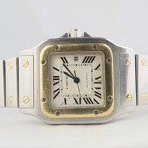 Cartier Santos Galbee 18k Steel Gold/Box/Papers