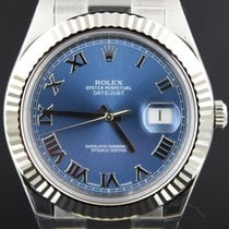 Rolex Datejust II Steel 41MM, Blue Roman Dial, FullSet 116334