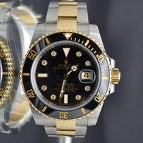 Rolex Gold & Steel Submariner 116613 Factory Diamonds Dial