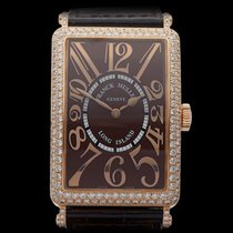 Franck Muller Long Island Relief Original Diamonds 18k Rose...