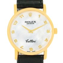 Rolex Cellini Classic 18k Yellow Gold Mother Of Pearl Dial...