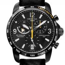 Certina DS Podium GMT Black Chronograph Quarz 42mm Ungetragen...