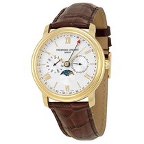 Frederique Constant Business Timer Silver Dial Mens Watch...