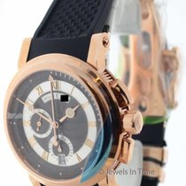 Breguet Marine Chronograph 18K Rose Gold Mens Watch Box/Papers...