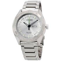 Citizen Silver Dial Titanium Quartz Men's Watch Aw0060 54a