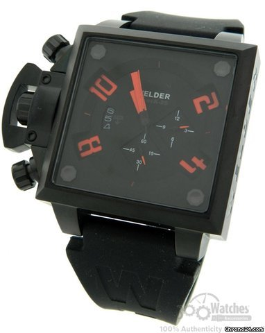 Welder Series K-25 Black PVD Steel Quartz Chronograph Date Watch