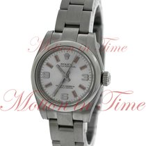 Rolex Oyster Perpetual No-Date 26mm, Silver Dial with Pink...
