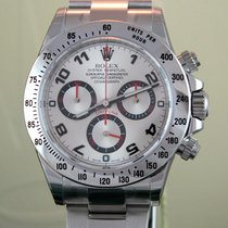 Rolex Daytona Stahl Silver Racing Dial  Neu