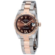 Rolex Datejust 31 Chocolate Dial Steel and 18K Everose Gold...