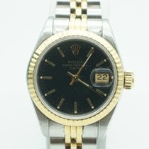 Rolex Date ladies 26mm Two Tone  Black Dial